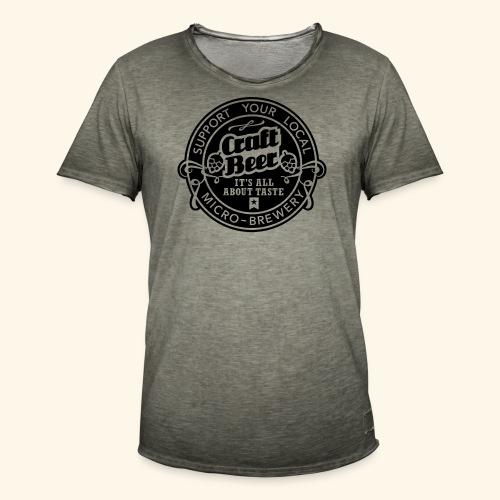 Craft Beer, inverted - Männer Vintage T-Shirt