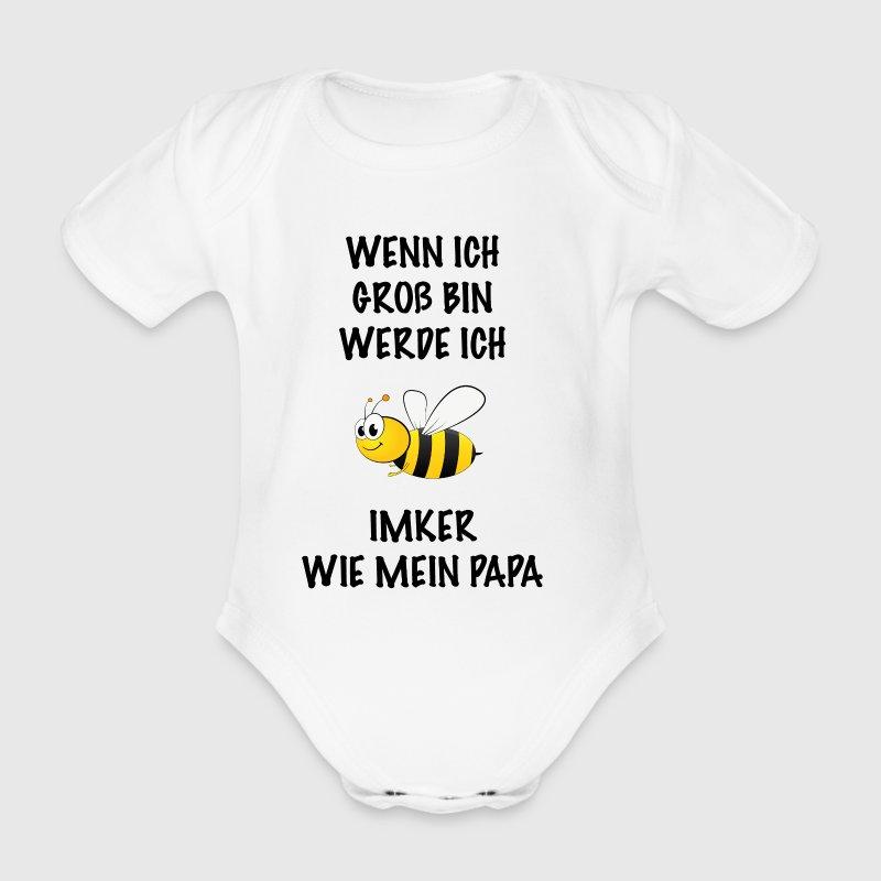 Wenn ich groß bin werde ich Imker - Baby Bio-Kurzarm-Body