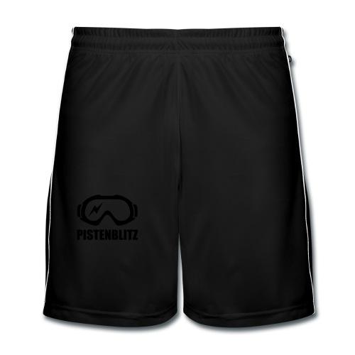 Schibrille mit Blitz - Männer Fußball-Shorts