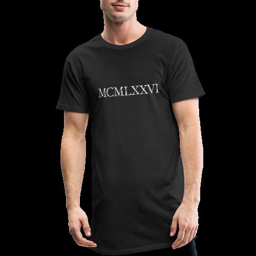 MCMLXXVI 1976 Geburtstag T-Shirt Römisch (Vintage/Weiß) - Männer Urban Longshirt