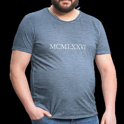 MCMLXXVI 1976 Geburtstag T-Shirt Römisch (Vintage/Weiß) - Männer Vintage T-Shirt