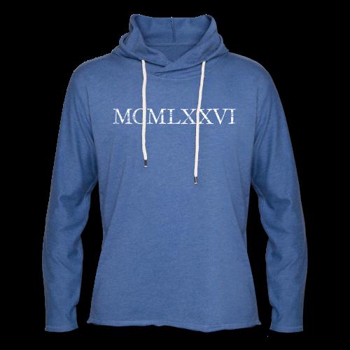 MCMLXXVI 1976 Geburtstag T-Shirt Römisch (Vintage/Weiß) - Leichtes Kapuzensweatshirt Unisex