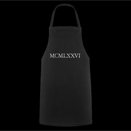 MCMLXXVI 1976 Geburtstag T-Shirt Römisch (Vintage/Weiß) - Kochschürze