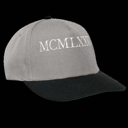 MCMLXXVI 1976 Geburtstag T-Shirt Römisch (Vintage/Weiß) - Snapback Cap