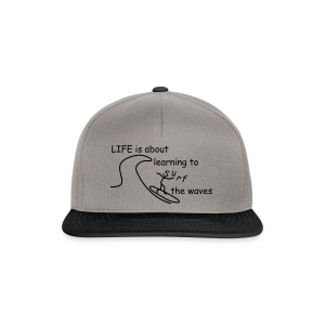 Strichmännchen- Life is about... - Snapback Cap