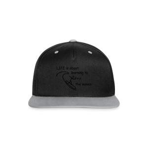 Strichmännchen-Life is about... - Kontrast Snapback Cap
