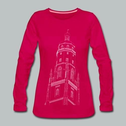 Nördlinger Wahrzeichen Daniel  T-Shirt (Frauen) - Frauen Premium Langarmshirt