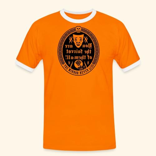 Fairest of them all,Lady - Männer Kontrast-T-Shirt