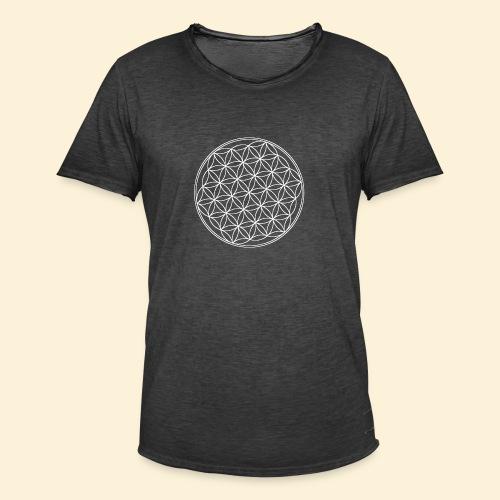 Lebensblume - Männer Vintage T-Shirt