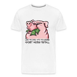 AMF Against Modern Football Pig White - Men's Premium T-Shirt