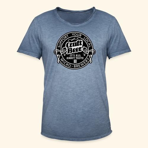 Craft Beer, bicolor - Männer Vintage T-Shirt