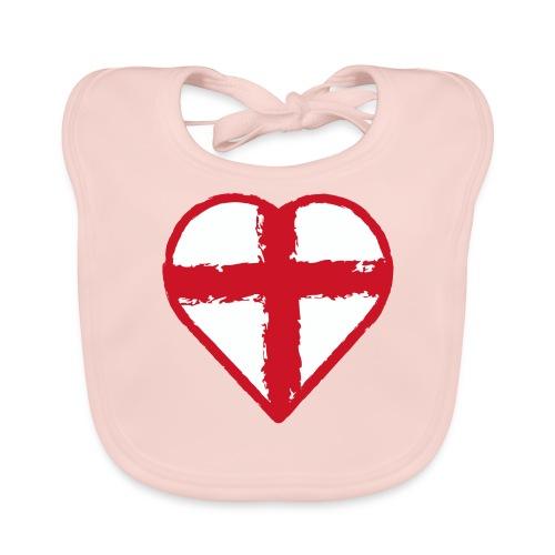 English heart - Baby Organic Bib