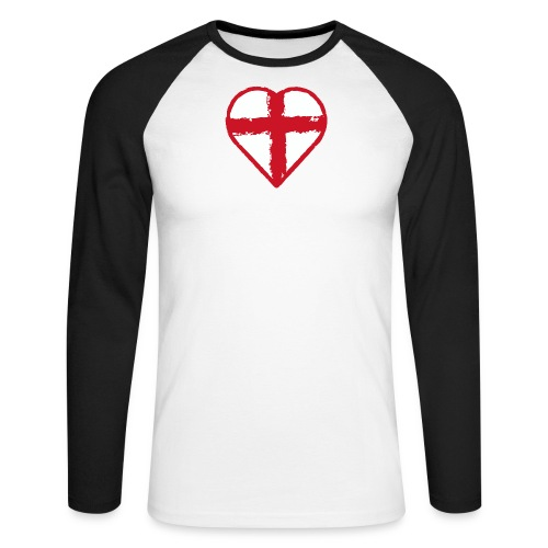 English heart - Men's Long Sleeve Baseball T-Shirt