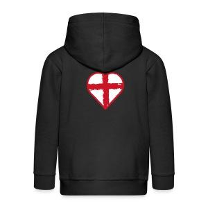 English heart - Kids' Premium Zip Hoodie