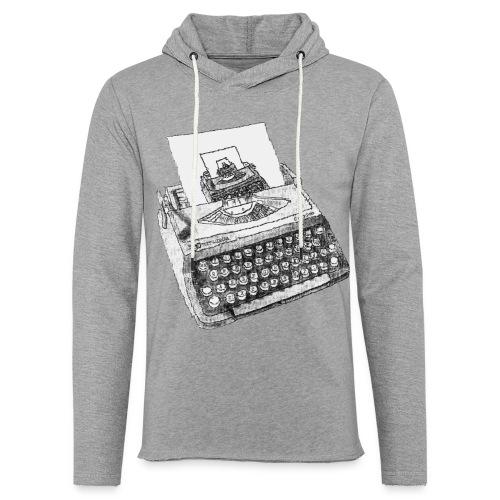Typewritten Typewriter...writer..er - Leichtes Kapuzensweatshirt Unisex