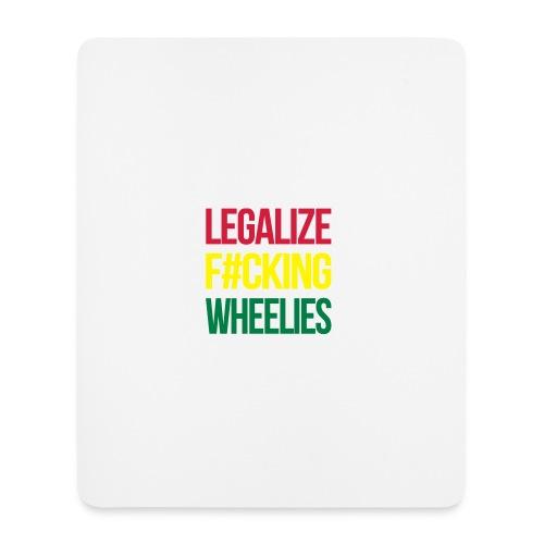 LegalizeF#ckingWheelies Snapback - Mousepad (Hochformat)