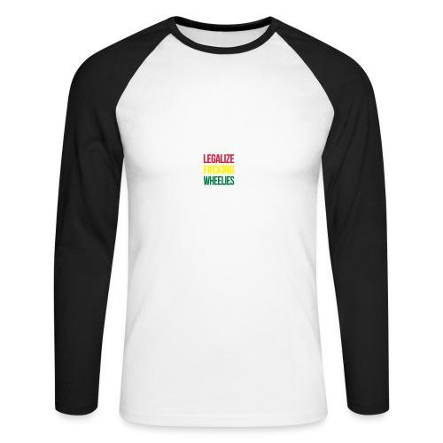 LegalizeF#ckingWheelies Snapback - Männer Baseballshirt langarm