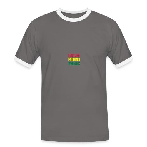 LegalizeF#ckingWheelies Snapback - Männer Kontrast-T-Shirt