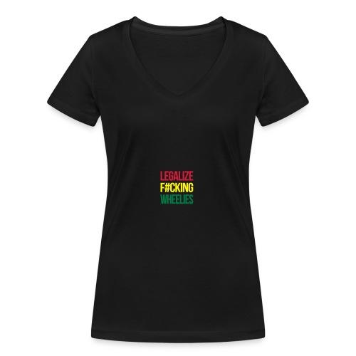 LegalizeF#ckingWheelies Snapback - Frauen Bio-T-Shirt mit V-Ausschnitt von Stanley & Stella