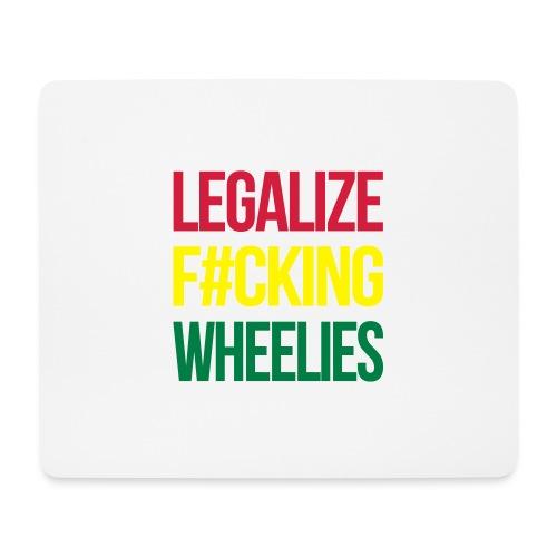 LegalizeF#ckingWheelies Snapback - Mousepad (Querformat)