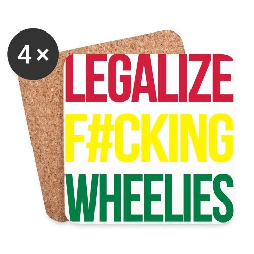 LegalizeF#ckingWheelies Snapback - Untersetzer (4er-Set)
