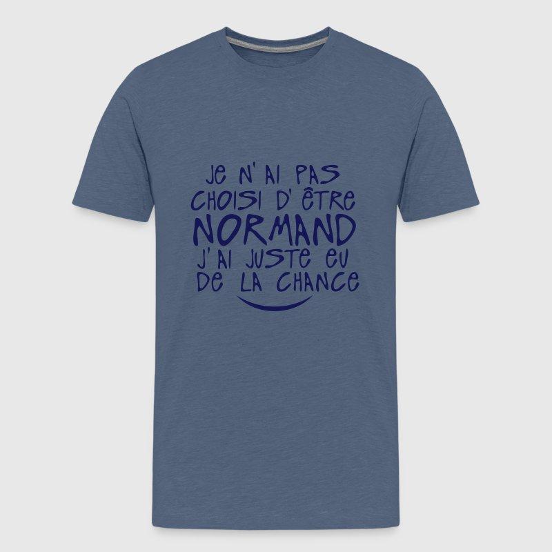 pas choisi etre normand juste chance Tee shirts - T-shirt Premium Ado