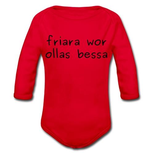 fraira wor ollas bessa - Jugendshirt - Baby Bio-Langarm-Body