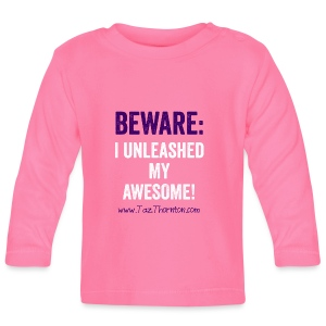 #UnleashYourAwesome - ladies pink tee - Baby Long Sleeve T-Shirt