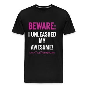#UnleashYourAwesome - black unisex tee - Men's Premium T-Shirt