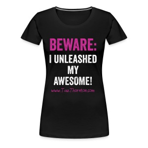 #UnleashYourAwesome - black unisex tee - Women's Premium T-Shirt