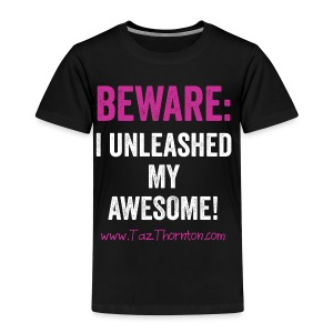 #UnleashYourAwesome - black unisex tee - Kids' Premium T-Shirt