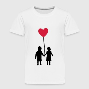 Kids and heart balloon Manches longues - T-shirt Premium Enfant