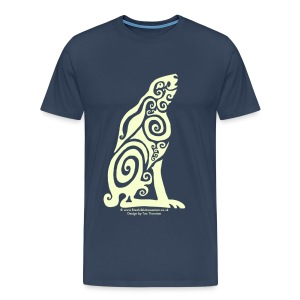 Spirit Animal - Moon Hare - Men's Premium T-Shirt