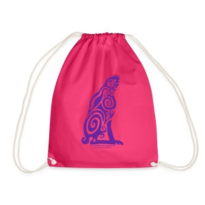 Spirit Animal - Purple Hare - Drawstring Bag