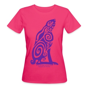 Spirit Animal - Purple Hare - Women's Organic T-shirt
