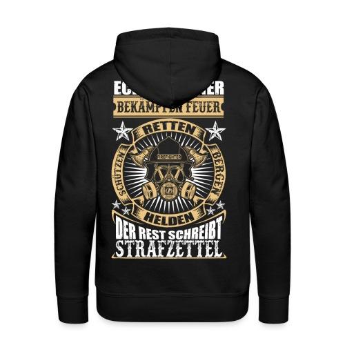 Feuerwehr Echte Männer - Männer Premium Hoodie