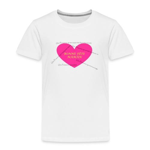 T-shirt Premium Enfant - Design créé et réalisé pour la fête des mères 2016
