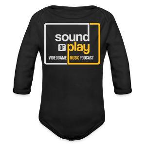 Sound of Play Black - Longlseeve Baby Bodysuit