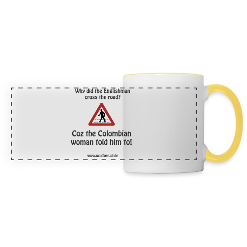 The Colombian woman told him - Panoramic Mug