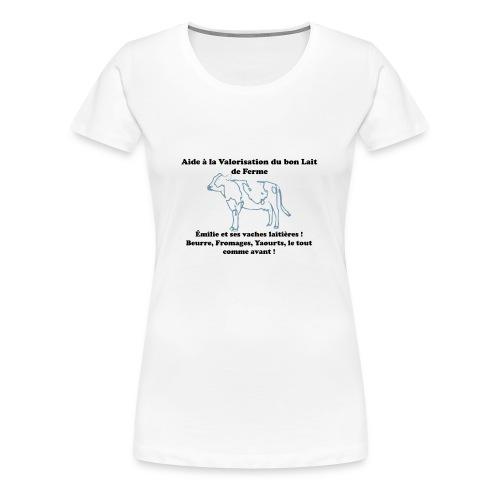 T-shirt Premium Femme - Toutes les commissions vendus sur ces badges lui seront retransmis.