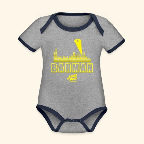 BARMAN - Baby Bio-Kurzarm-Kontrastbody