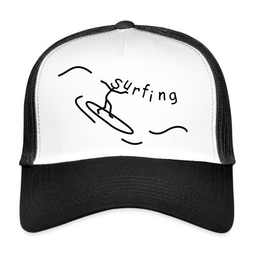 Strichmännchen Surfing - Trucker Cap