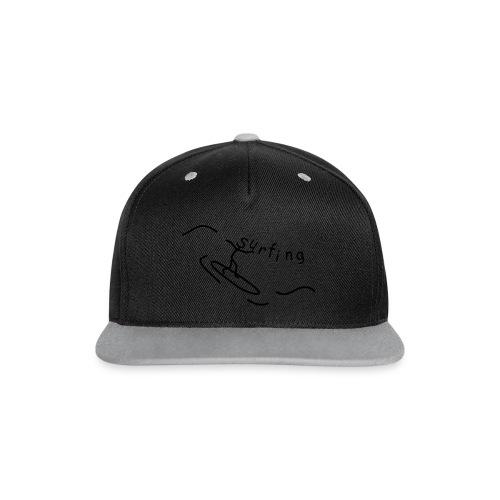 Strichmännchen Surfing - Kontrast Snapback Cap