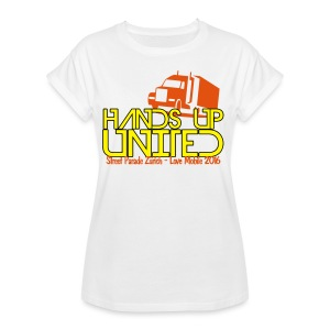 Hands Up United Frauen Top (Weiss) - Frauen Oversize T-Shirt