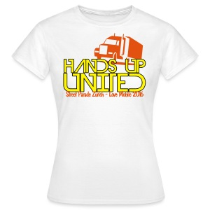 Hands Up United Frauen Top (Weiss) - Frauen T-Shirt