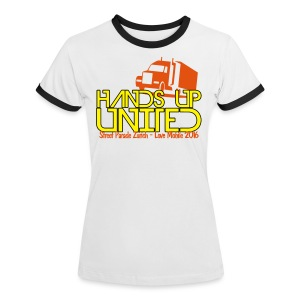 Hands Up United Frauen Top (Weiss) - Frauen Kontrast-T-Shirt