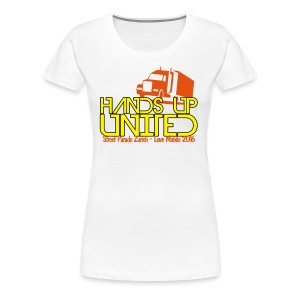 Hands Up United Frauen Top (Weiss) - Frauen Premium T-Shirt