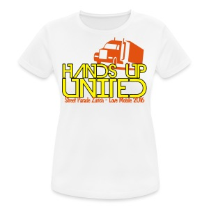 Hands Up United Frauen Top (Weiss) - Frauen T-Shirt atmungsaktiv