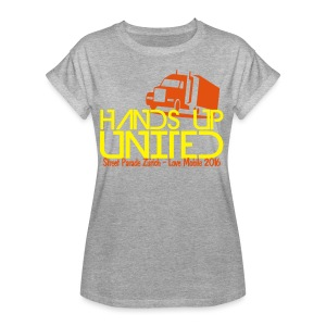 Hands Up United Frauen Top (Gelb) - Frauen Oversize T-Shirt