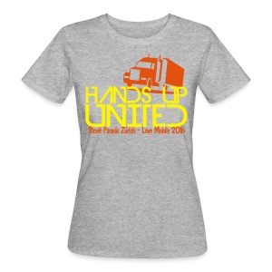 Hands Up United Frauen Top (Gelb) - Frauen Bio-T-Shirt